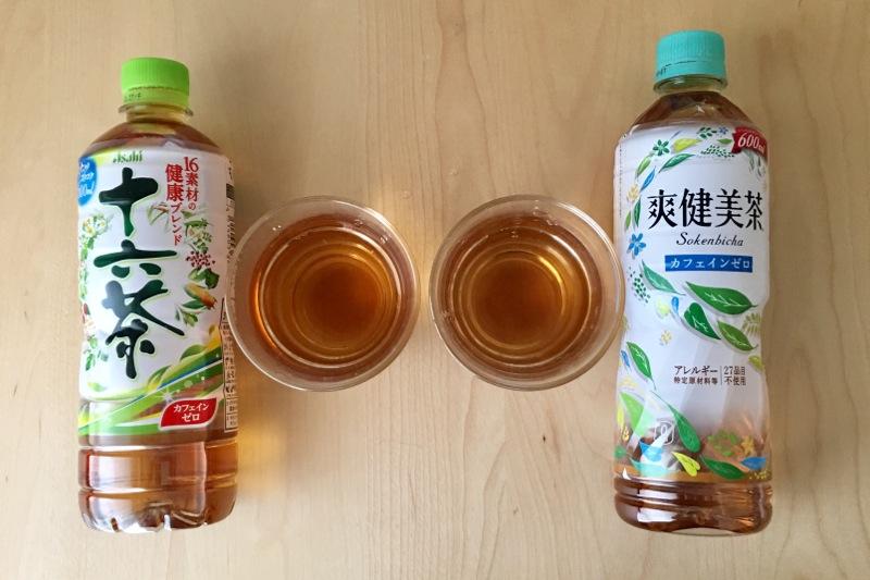 十六茶と爽健美茶の水色全体