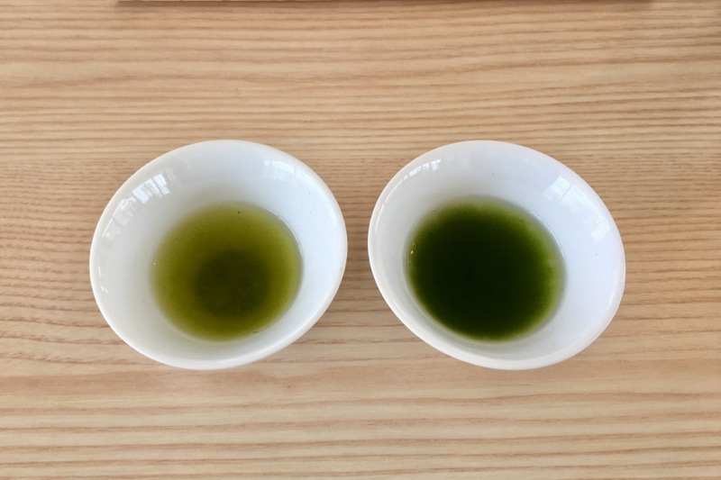 かぶせ茶と芽茶
