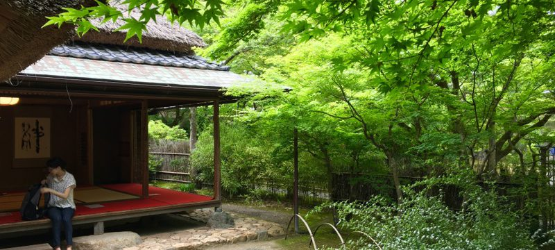 天龍寺の宝厳厳院の茶席