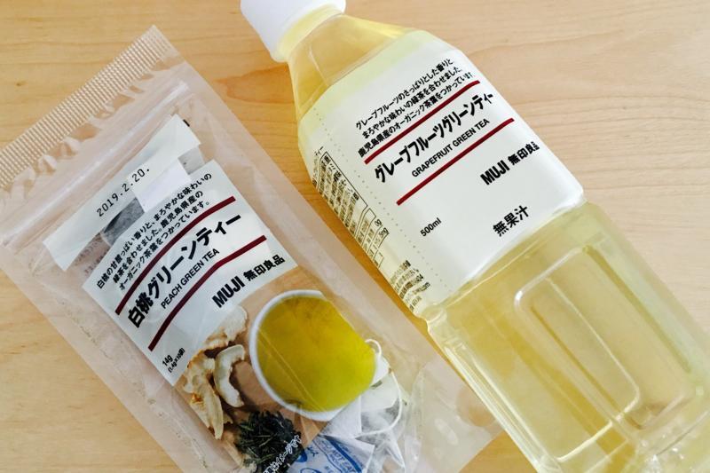 無印良品【グリーンティー】有機茶葉と果実とハーブ使用!飲んでみた。